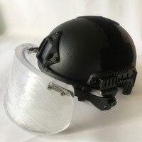 NIJ уровень IIIA 3A Арамидных Пуленепробиваемый Шлем с тактические Баллистические козырек щит комплект дело для армии США шлем