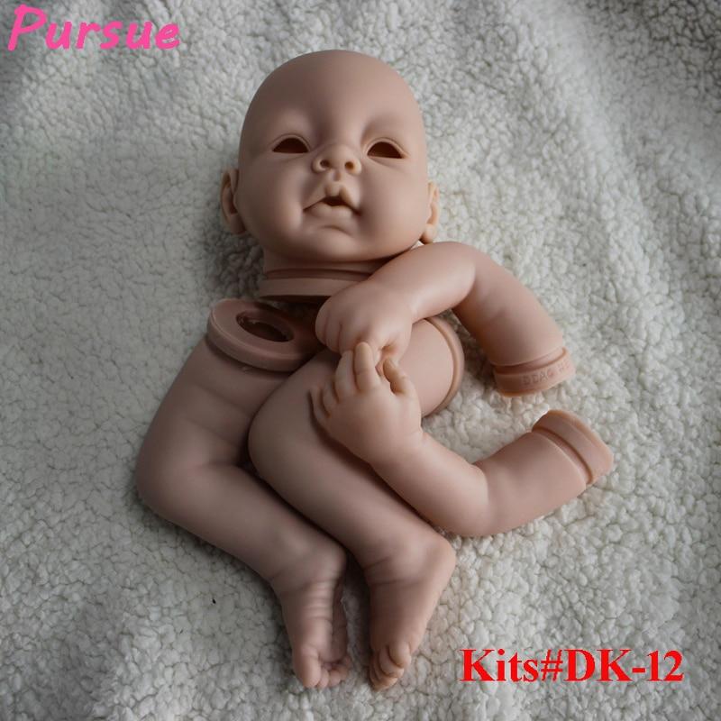 Pursue 21 inch Reborn Kits for 20-22'' Soft Vinyl Reborn Doll Cloth Body Doll Kits for DIY Head,3/4 Limbs Doll Kits (Open Eyes) good price reborn baby doll kits for 17 baby doll made by soft vinyl real touch 3 4 limbs unpainted blank doll diy reborn doll