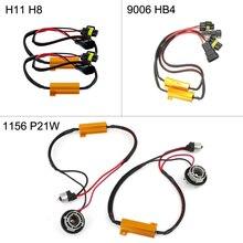Boaosi 2x H8 H11 9006 HB4 1156 P21W BA15S светодио дный туман лампы Обратный Свет CANBUS декодеры Нет Ошибка нагрузки резисторы проводки