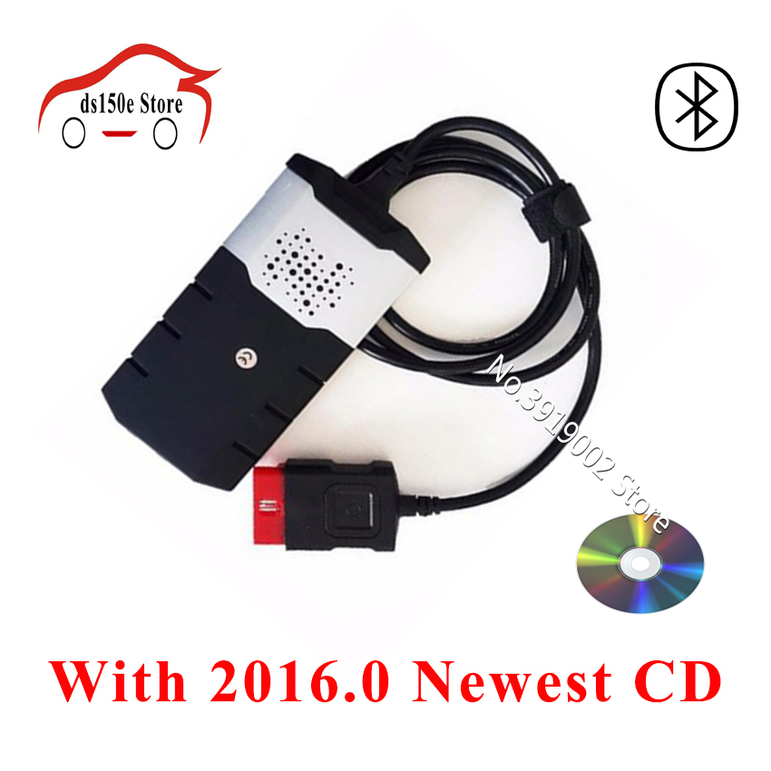 DHL freeshipping TCS cdp Pro Plus obd2 obdii diagnostic tool cars truck bluetooth Scanner vd ds150e cdp for delphis for autocom 2016 dhl free 10pcs tcs cdp pro plus truck cables 8 cables for tcs truck scanner