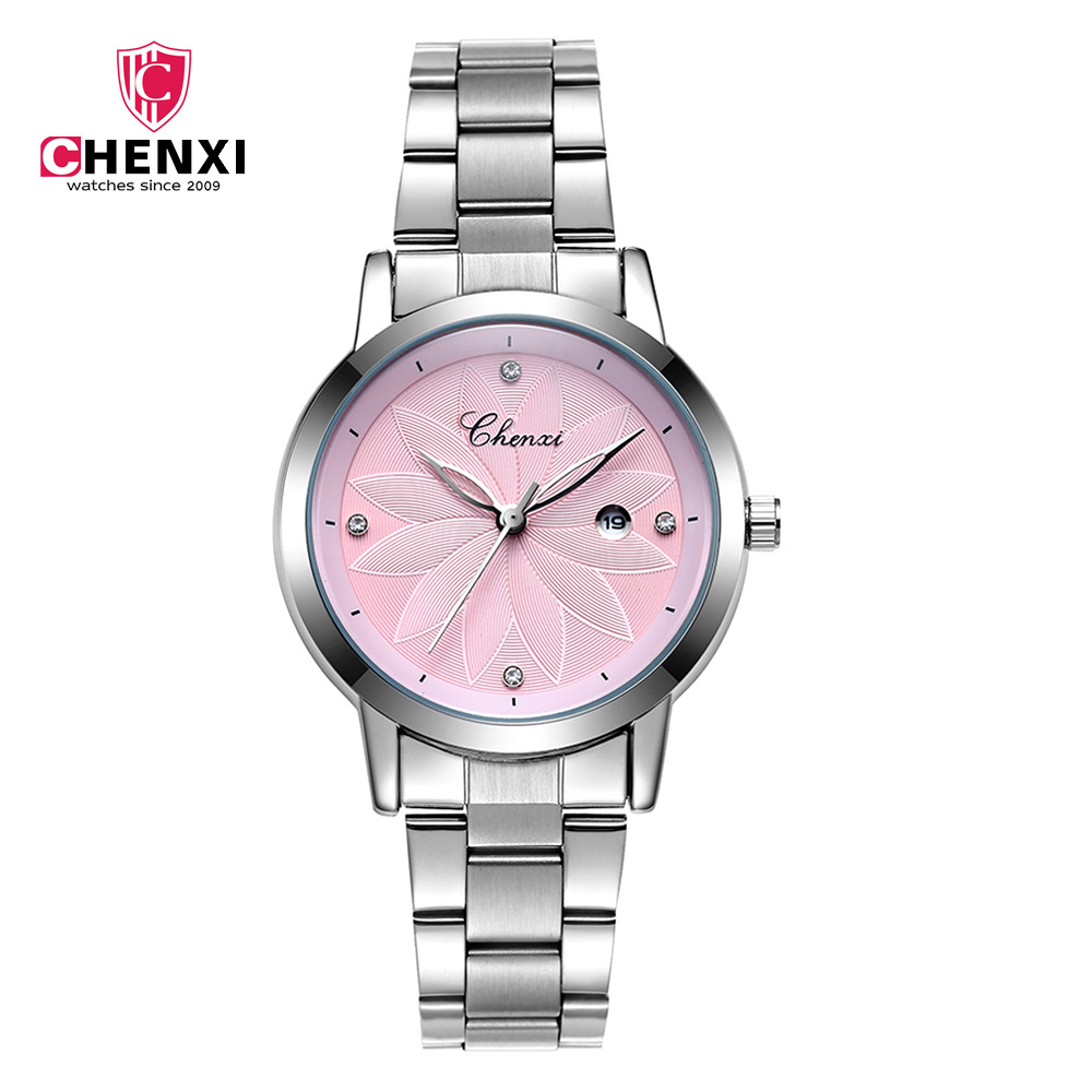 CHENXI Women Watches Luxury Calendar Stainless Steel Wristwatch Lady Fashion Casual Quartz Watch Female Clock Relogio Feminino  kimio fashion brand women watches lady quartz diamond watches lady dress watches female clock women stainless steel wristwatch
