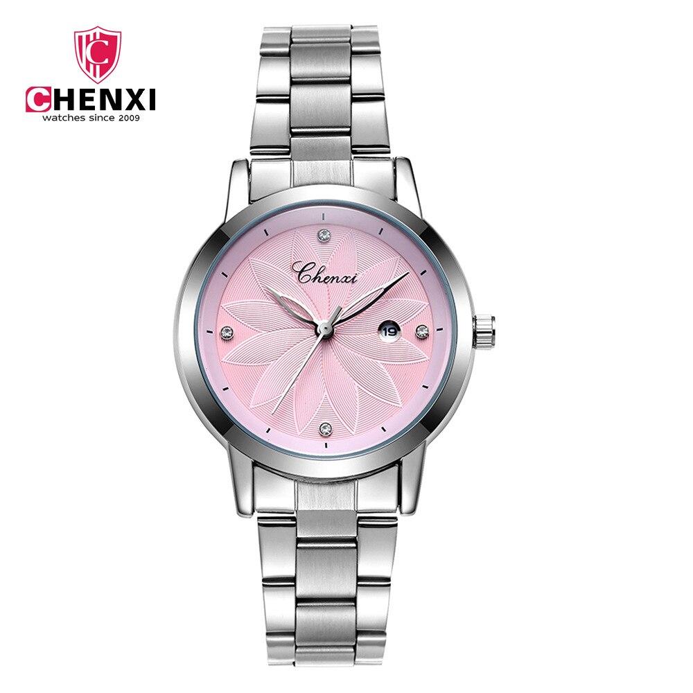 CHENXI Women Watches Luxury Calendar Stainless Steel Wristwatch Lady Fashion Casual Quartz Watch Female Clock Relogio Feminino