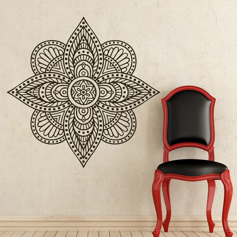 Yoga sticke pattern hinduism decal body building posters for Custom vinyl mural prints