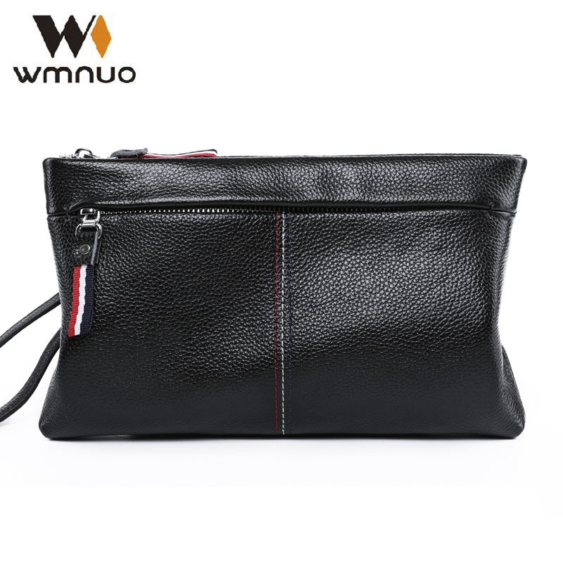 Wmnuo Men Hand Bag Handbag 2018 New Fashion Genuine Leather Male Coin Purse Cowhide Men Clutch Wallets Casual Phone Bag Simple цена 2017