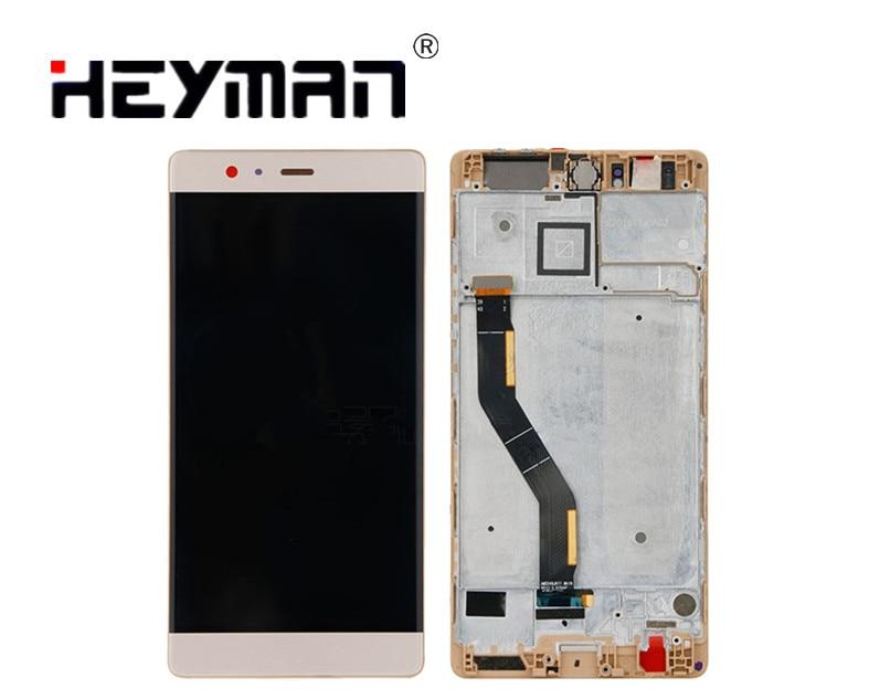 Assemblée de numériseur d'écran tactile d'affichage à cristaux liquides d'affichage à cristaux liquides avec le logement avant pour Huawei P9 Plus (avec le cadre d'écran tactile, VIE-L09/VIE-L29)
