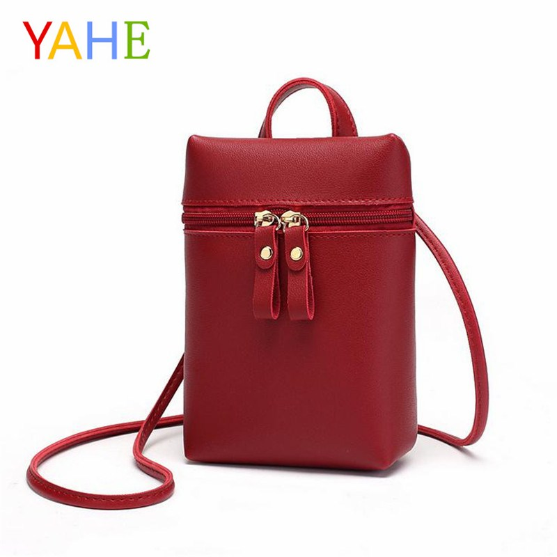 YaHe Mini Shoulder Bag Women PU Leather Coin Bags Black Small Ladies Messenger Bag Fashion Candy Color Pouch For Girls Kids 2018 fashion pu leather small women messenger bags for girls flap candy color shoulder long chain crossbody bag for women ladies sac