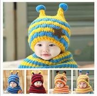 Beanie Baby muts babymutsje oor bescherming plus fluwelen muts sjaal twee sets hoed rond 46-52 cm, ongeveer 6-48 maanden