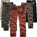 2016 осень высокое качество хлопка комбинезоны сплошной цвет army green брюки нет стрейч свободные прямые
