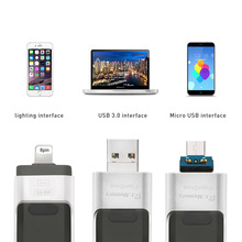 Dr. памяти металла OTG USB флэш-накопитель для Apple IPhone 5S SE 6 6 S плюс 7 Plus 3 в 1 накопитель металла флешки 16 г 32 г 64 г 128 ГБ