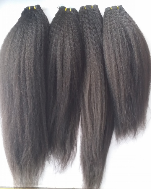 Non Processed Only Wash 7a Kinky Straight Hair Weave Malaysian