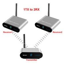 measy av220 2.4GHz Digital STB Wireless Sharing Device AV Sender Extender Up to 200m(1TX TO 2RX)