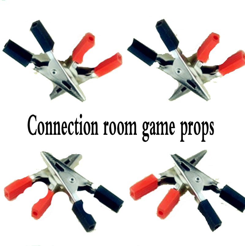 12V tools Connection room game props, 6 picese cable into three groups, Correct Connection can trigger lock and Lights форма для выпекания three can 013464 12