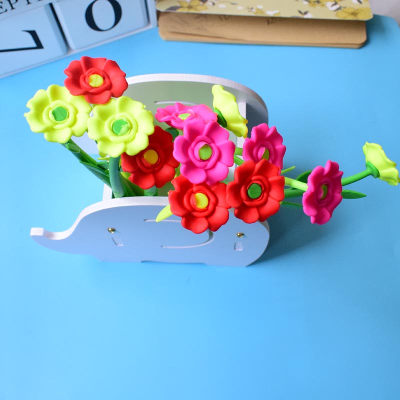 (12 Pieces/Lot) Cool Pens for School Funny Flower Gel Pen 0.38 mm Black Ink Office Gift Stationery Kids Gift Joy Corner