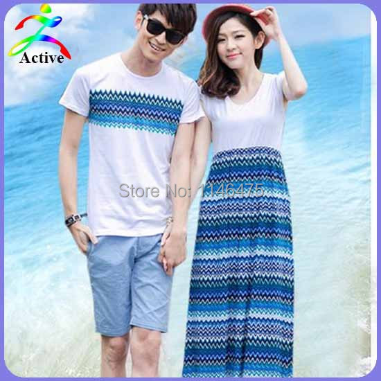Buy Hot Selling Fashion Couple Clothes Summer Bohemian Style Holiday Beach One