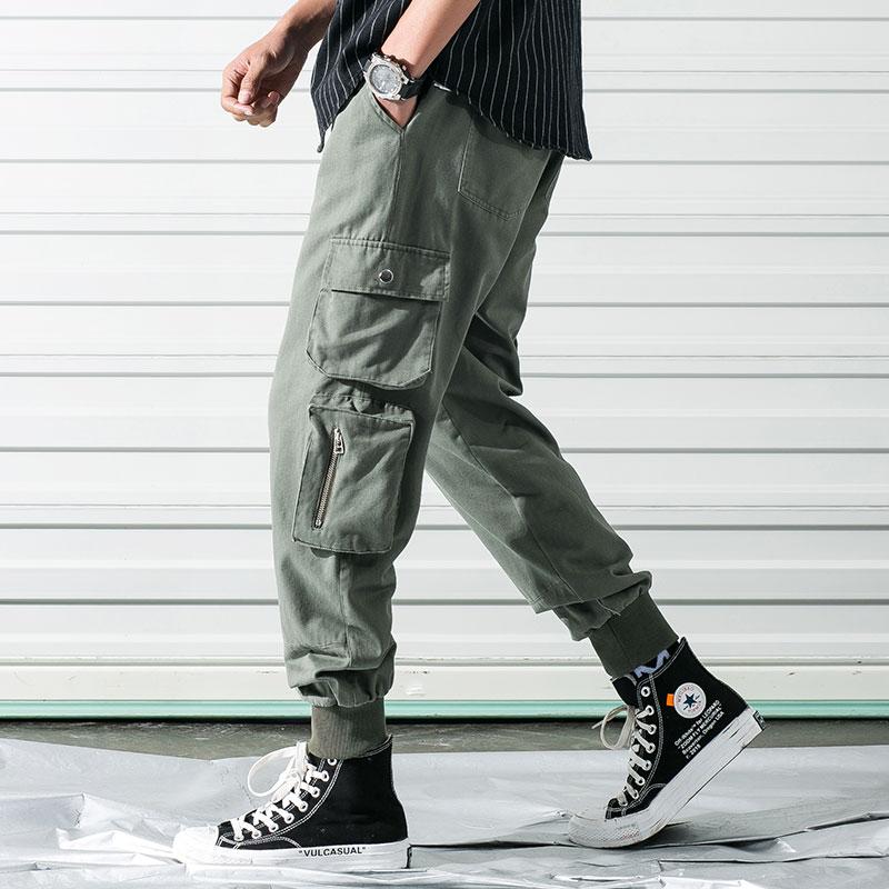 Asuguoji Pantalones Cargo Con 6 Bolsillos Para Hombre Ropa Informal Japonesa De Algodon Tacticos Chinos Pantalones Deportivos Tipo Jogger Pantalones Tipo Cargo Aliexpress