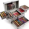 54 цветов Shimmer тени для век + 40 цветов Матовая eyeshdow палитра 3 слоя профессиональный косметический случай макияж комплект бесплатная доставка