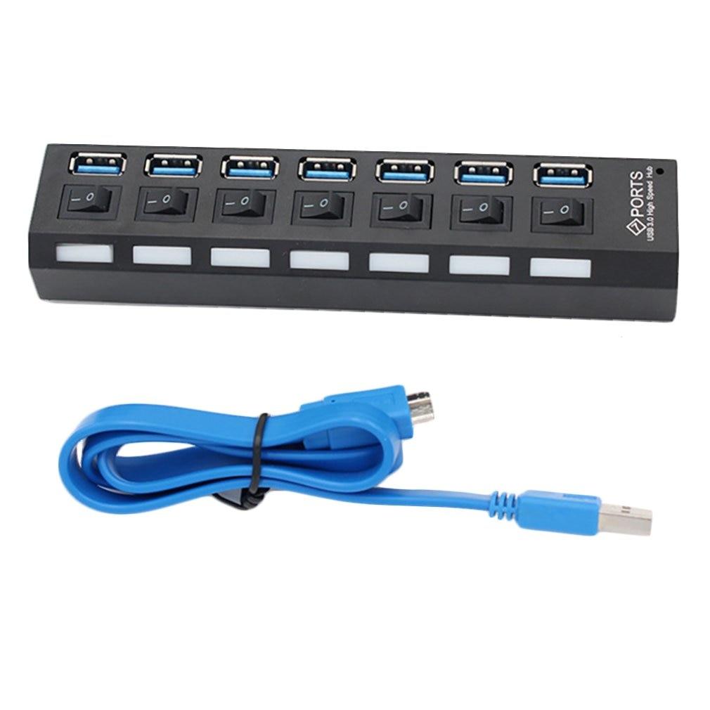 USB HUB Micro USB 3.0 HUB Splitter With Power Adapter USB 4/7 port Hab High Speed 5Gbps USB Splitter 3.0 HUB For PC accessories
