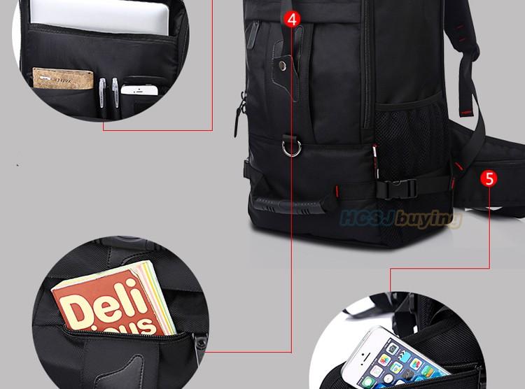 KAKA Men Backpack Travel Bag Large Capacity Versatile Utility Mountaineering Multifunctional Waterproof Backpack Luggage Bag 18