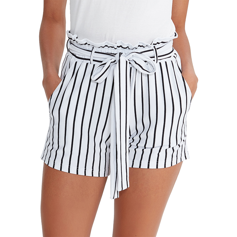 Eco-friendly knitted cotton spandex women casual shorts  women summer shorts M30172
