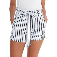 friendly knitted cotton spandex women casual shorts  summer M30172