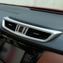цена на For Nissan X-Trail XTrail T32 Rogue 2014 2018 ABS Matte Style Middle Air Conditioning AC Outlet Vent Cover Trim sticker 1 Pcs