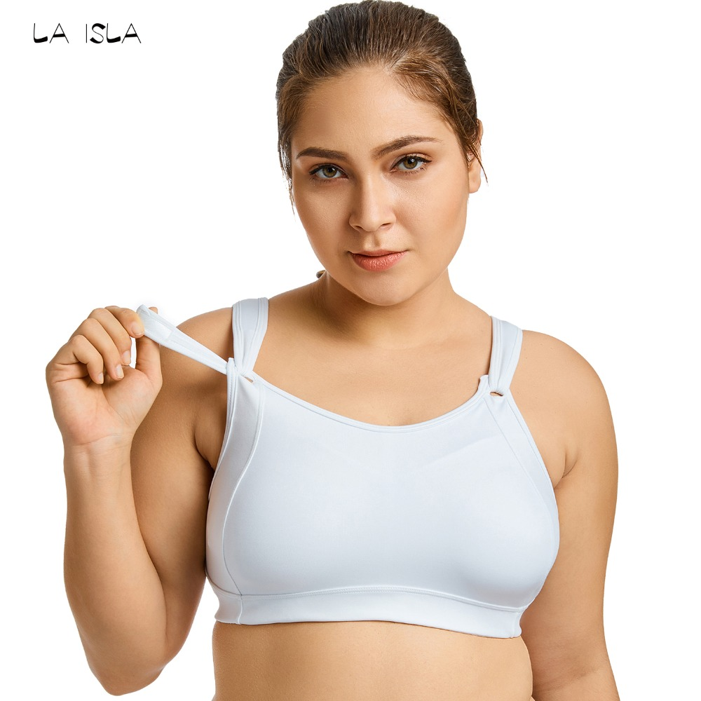 Women's High Impact Full Coverage Wire Free Non Padded Run Sports Bra