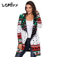 LORDXX Cardigan Women Christmas Sweater Plus size Long Sleeve Jumper Knitted Sweaters overcoat Ladies winter fashion 2018