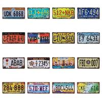 米国車のナンバーニューヨークカリフォルニアメタルナンバープレートヴィンテージ装飾壁のポスターバーパブガレージ錫プラーク看板 15 × 30 センチメートル C19
