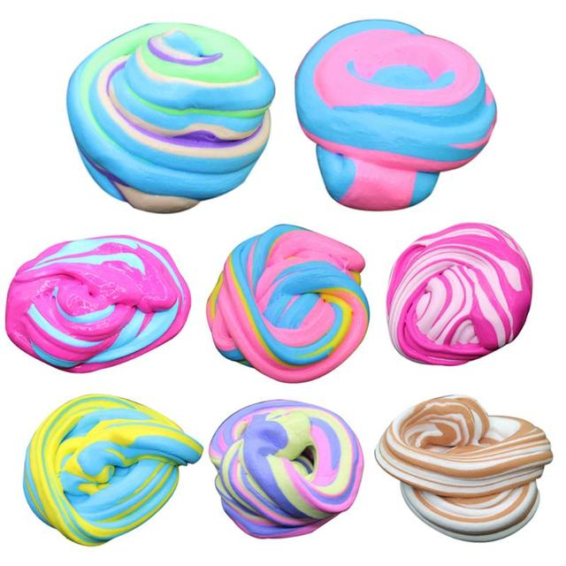 slime toys antistress toys plastice clay 60ml Fluffy Foam Slime Putty Stress Relief Magic MultiColor Slime Sludge Cotton Mud Toy