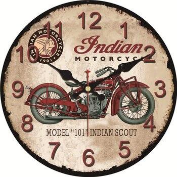 Shabby Chic de la motocicleta diseño Relojes Decoración hogar ...