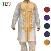 Free Shipping Africa S Riche Man Costume Bazin Embroidery Design Style Cotton Dashiki PH47