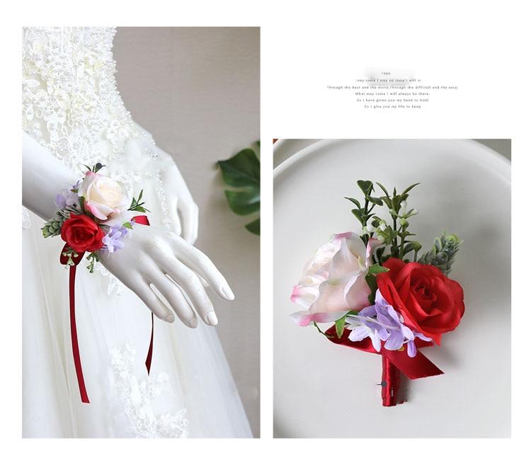 wedding boutonniere wrist corsage marriage  (6)