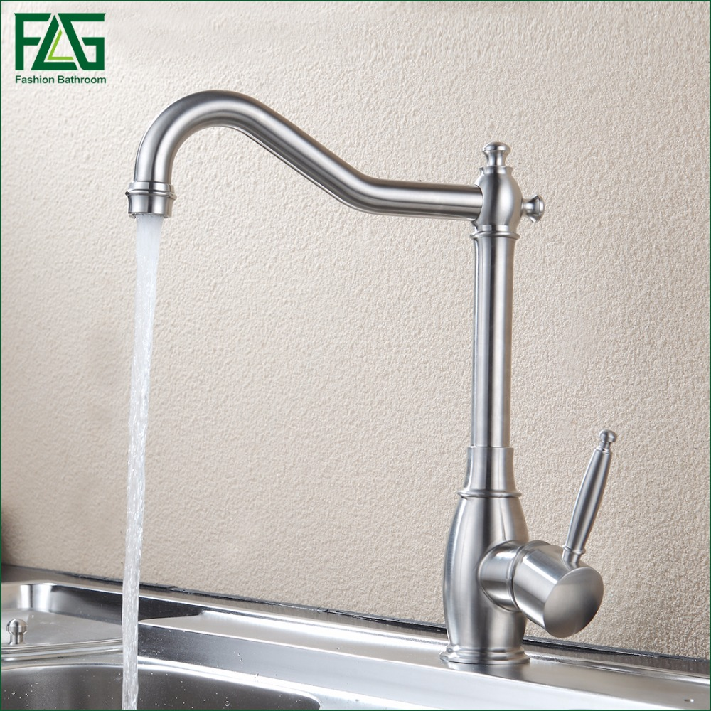 304 Stainless Steel Kitchen faucet Mixer Cold Hot Kitchen Tap Single Hole Water Tap Torneira Cozinha 248-33 jomoo brass kitchen faucet sink mixertap cold and hot water kitchen tap single hole water mixer torneira cozinha grifo cocina