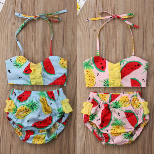 Toddle Infant Baby Girls Child Kids Floral Bikini Suit Swimmable Costume Swimwear Swimsuit Beachwear Summer Clothes 0-24M