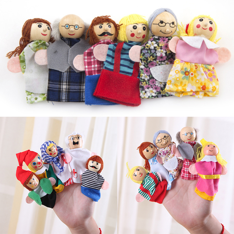 Baby Cartoon Animal Monkey Dog Characters Finger Puppets Theater Show Soft Dolls Props Kids Toys For Children Gift Game