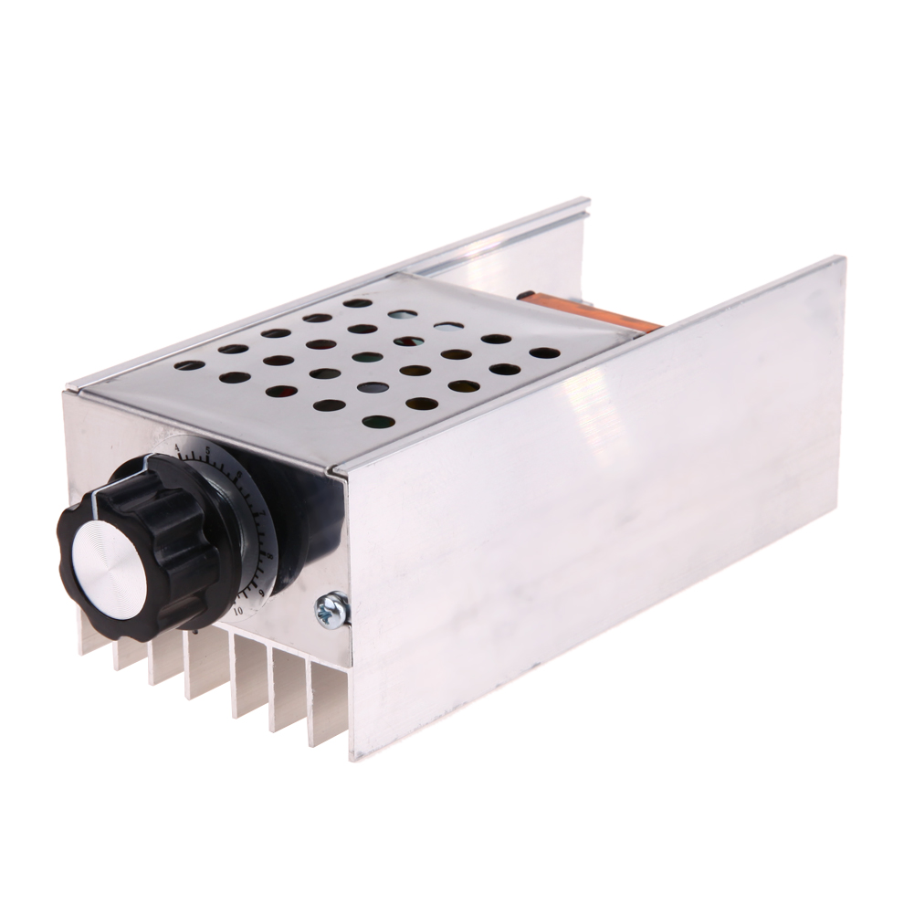 AC 220V 6000W SCR Voltage Regulator Controller Electronic Dimmer Thermostat Speed Regulation Mold with Case цена