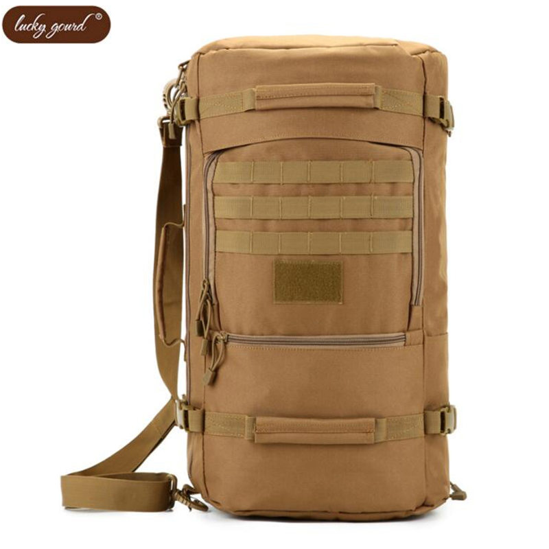 купить New military backpack male 50 L water-proof Oxford 1680 d backpack tourist waterproof leisure joker bags camouflage luxury clutc недорого
