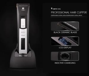 Image 5 - Tóc chuyên nghiệp Điện Tông Đơ cho Nam Giới Sạc Beard Hair Clipper Blade Ceramic Đen Máy Cắt Tóc cho Barber