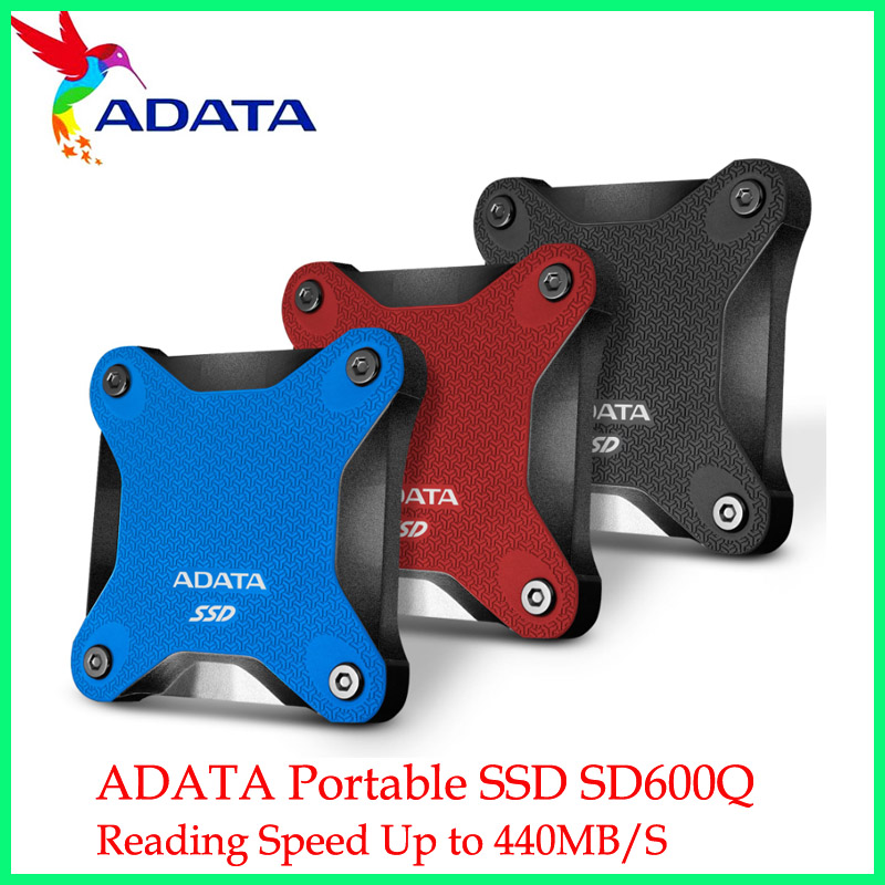 ADATA Portable SSD 240 GB 480GB 3D NAND 960GB USB3.1 Ultra-Speed External Solid State Drive Read up to 440 MB/s SD600Q 1