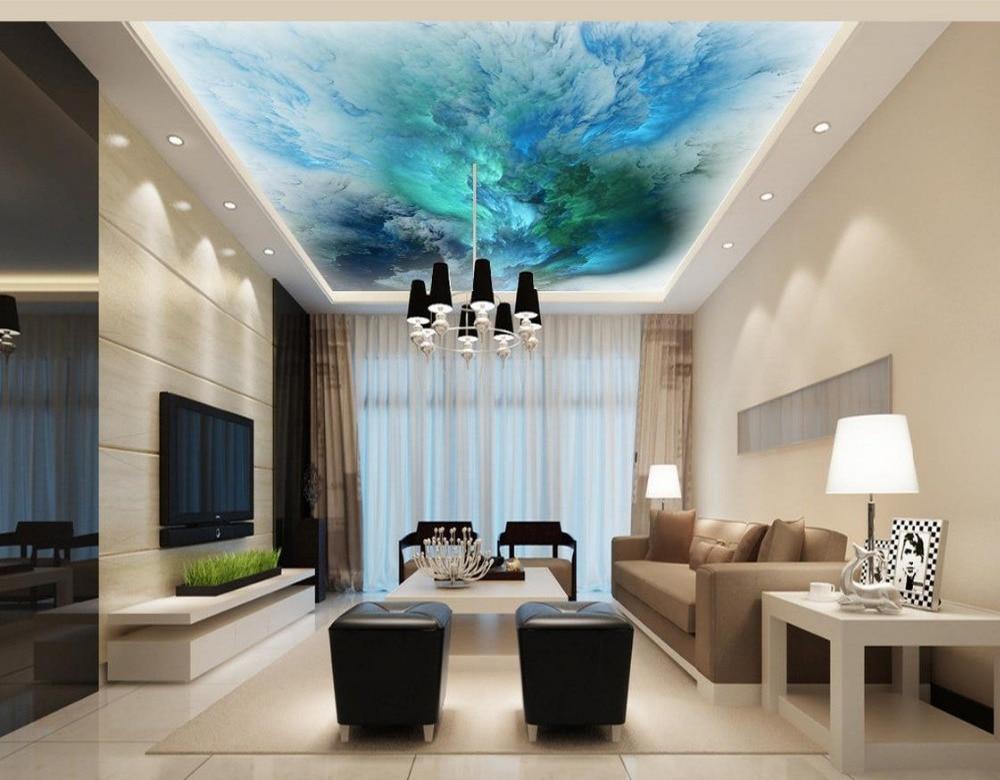 Nuages Qui Coule Couleur Plafond Fresques Photo Peintures Murales