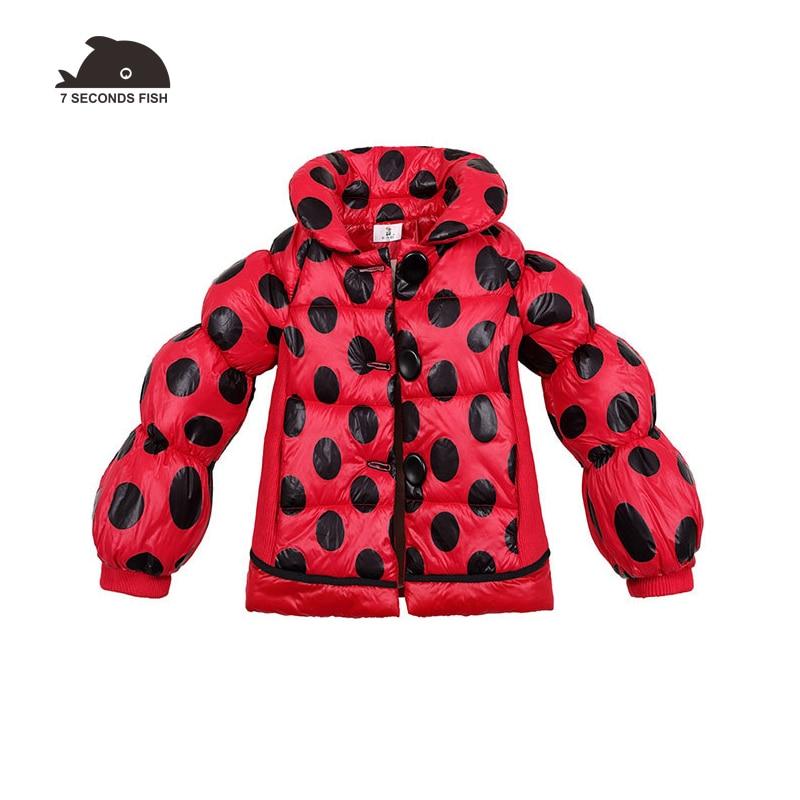 купить Jacket for girls 2018 Winter Coats Jackets Polka Dot Cotton Padded Thicken Parkas Teen Brand Down Kids Clothes Children Clothing по цене 1495.95 рублей