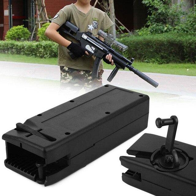 Outdoor Airsoft Paintball 1000 Runden Kunststoff BB Speed Loader M4 Hand Kurbel Military Utility Schnell Loader Jagd Gun Zubehör
