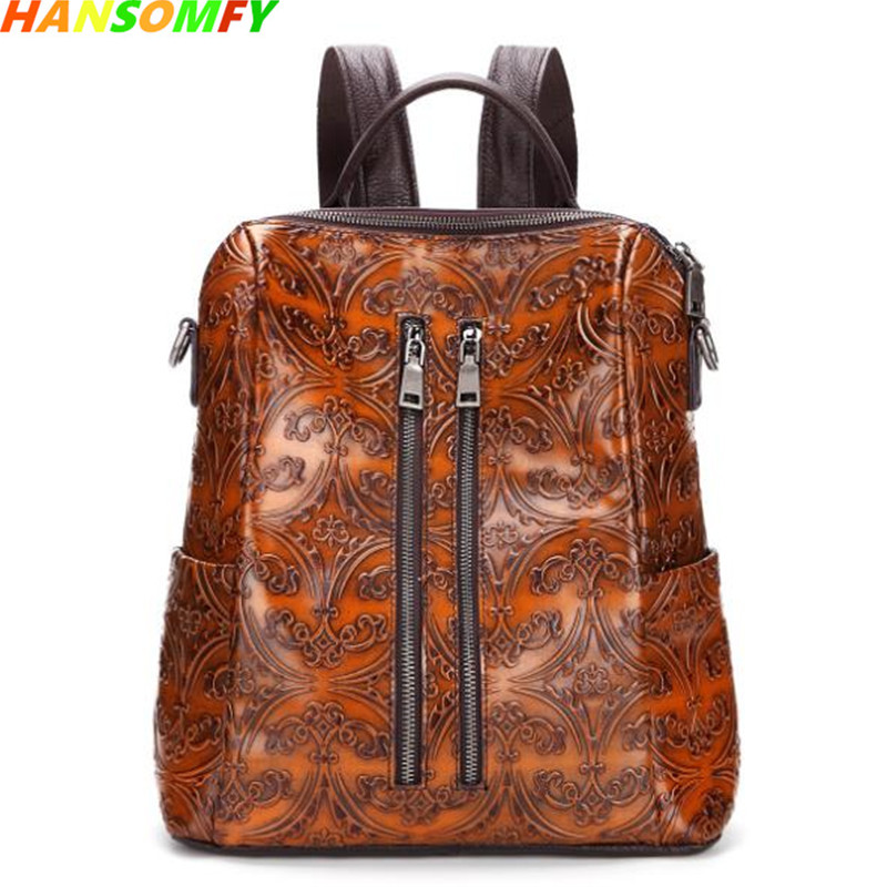 2018 new Vintage leisure women backpacks fashion shoulder bag cow leather female travel bags hand-rubbing backpack2018 new Vintage leisure women backpacks fashion shoulder bag cow leather female travel bags hand-rubbing backpack