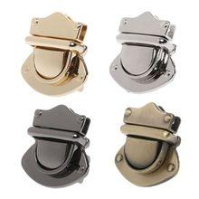 Metal Clasp Turn Lock Twist Locks for DIY Handbag Shoulder Bag Purse Hardware Accessories twist lock detail pu shoulder bag