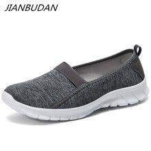 JIANBUDAN/Trọng Lượng Nhẹ giày mùa hè của phụ nữ ngoài trời bò giày phẳng Thoáng Khí giản dị giày đi bộ Nữ đi bộ giày 36 45