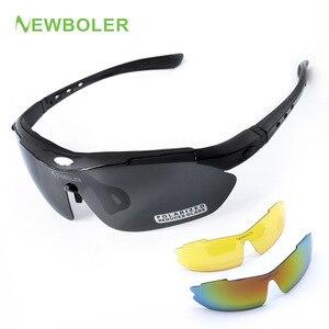 NEWBOLER المهنية قصر النظر الاستقطاب الصيد نظارات الرجال النساء تسلق نظارات المشي الرياضة في الهواء الطلق نظارات 3 عدسة