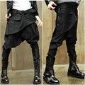 Otoño e invierno pantalones flacos masculinos pantalones de baja altura pantalones de harén baggies masculinos vaqueros de corte para botas de tendencia de la personalidad de el macho
