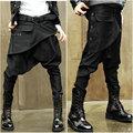 Outono e inverno calças skinny harem pants calças baggies masculinos low-rise calça jeans boot cut masculinos personalidade tendência de o macho