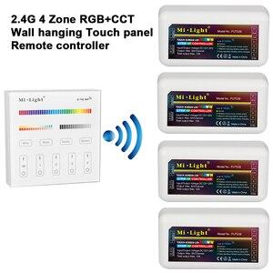Светодиодная Сенсорная панель Mi Light, 2,4G RGB + CCT, пульт дистанционного управления + 2,4G RGB + CCT, светодиодный контроллер для светодиодной ленты, по...