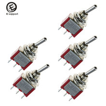 цена на EE support Auto Interior Parts 5Pcs On/Off/On Momentary Mini Toggle Switch Motor Dash SPDT 3Pin Car Accessories Sales